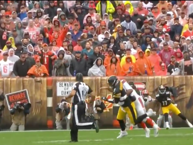 Myles Garrett Falls Victim To NFL's Terrible New Roughing The Passer Rule
