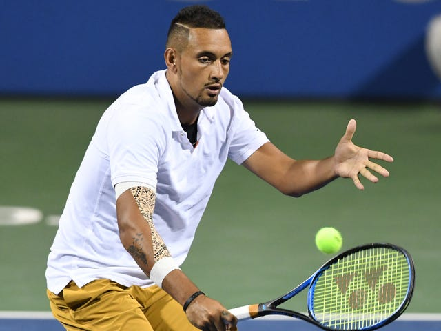 True Weirdo Nick Kyrgios Serves Match-Winning Ace After Consulting A Fan