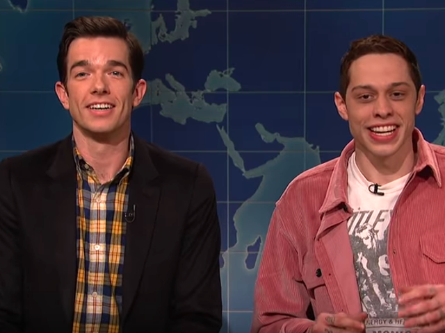Pete Davidson returns to SNL, smuggling in pal John Mulaney to trash Clint Eastwood's The Mule