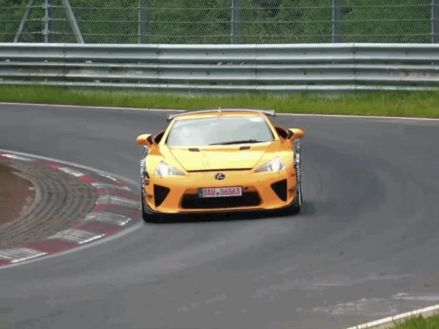 Here's a Lexus LFA Testing At The Nürburgring In 2019 For Whatever Reason