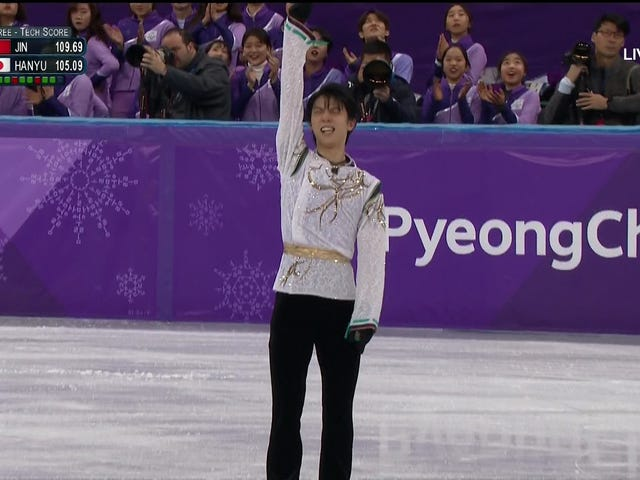 Yuzuru Hanyu Is The First Repeat Olympic Men's Figure Skating Gold Medalist In 66 Years