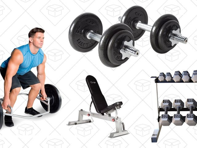 Score Some Discounts on Weight Lifting Equipment, Courtesy of Amazon