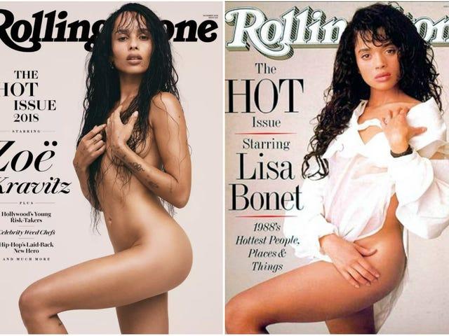 เธอได้รับมันจากแม่ของเธอ: Zoë Kravitz สร้างภาพลักษณ์ของโรลลิ่งสโตน Iconic Rolling Stone ของ Lisa Bonet