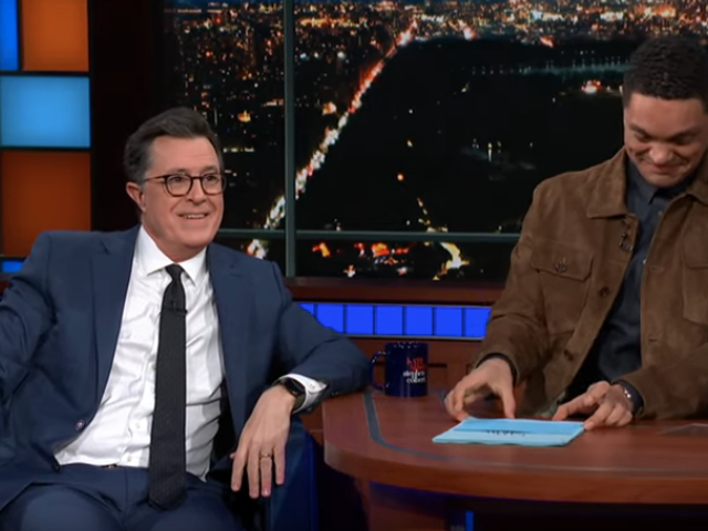 Trevor Noah takes Stephen Colbert's job, asks about how badly Colbert originally sucked at it
