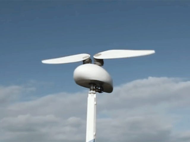 A Wind Turbine With Flapping Wings Might Be Quieter and Safer For Birds