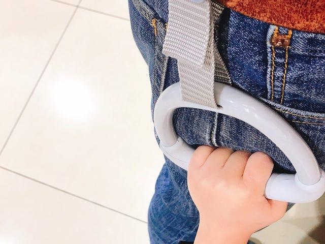 Use un 'Asa de tren' cuando viaje con niños pequeños