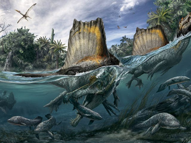 A dinosaur blown up in WW2 might have been semi-aquatic