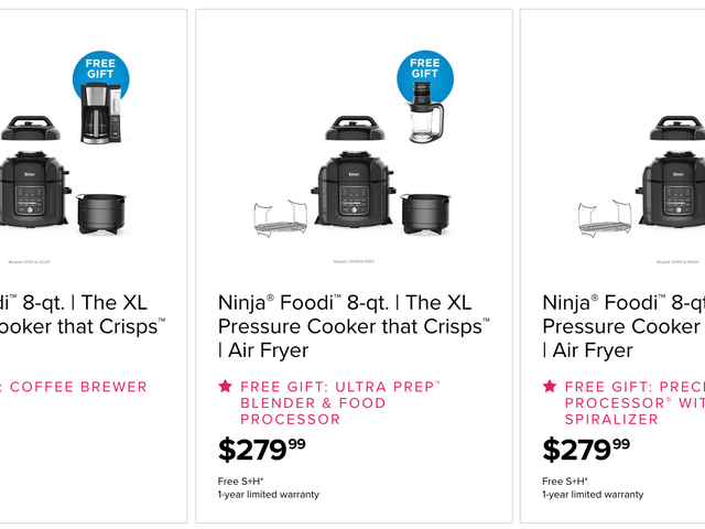 Buy the Do-It-All Ninja Foodi, Get a Second Appliance of Your Choice For Free