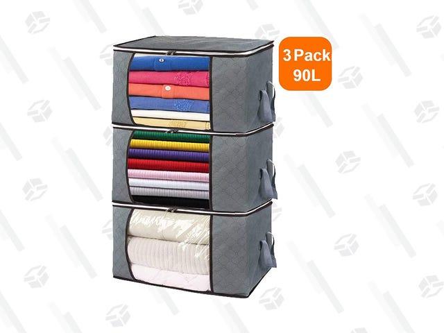 Organice su espacio con un paquete de bolsas de almacenamiento blandas