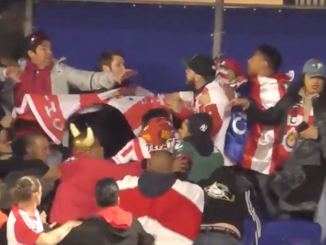 Chivas And New York Red Bulls Fans Get Into A Big Ole Brawl