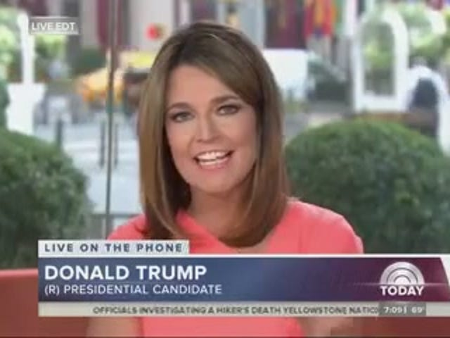 Trump: Trump ne ferait jamais de blague à propos de cette période de Bimbo Megyn Kelly