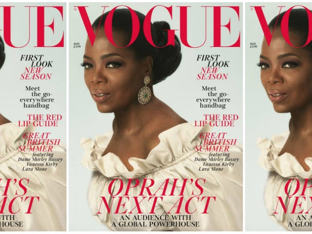 Yass, Queen! Oprah Channels Royalty on the Cover of Vogue UK's August Issue
