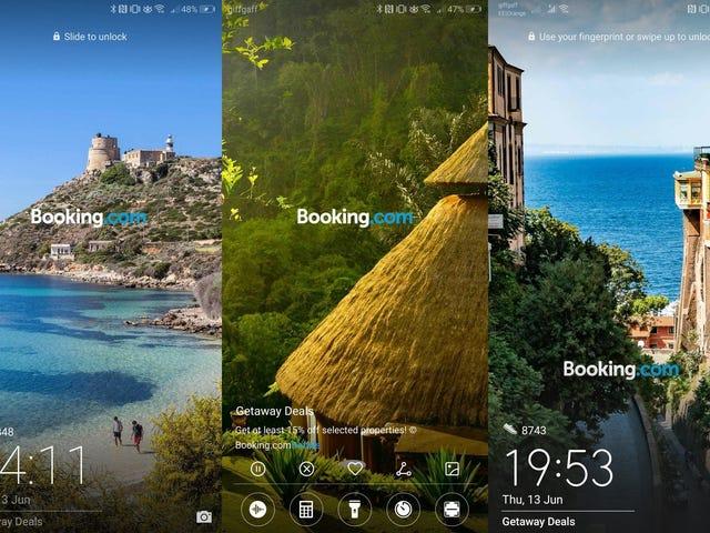 Huawei ha decidido mostrar publicidad de Booking en la pantalla de bloqueo de sus teléfonos