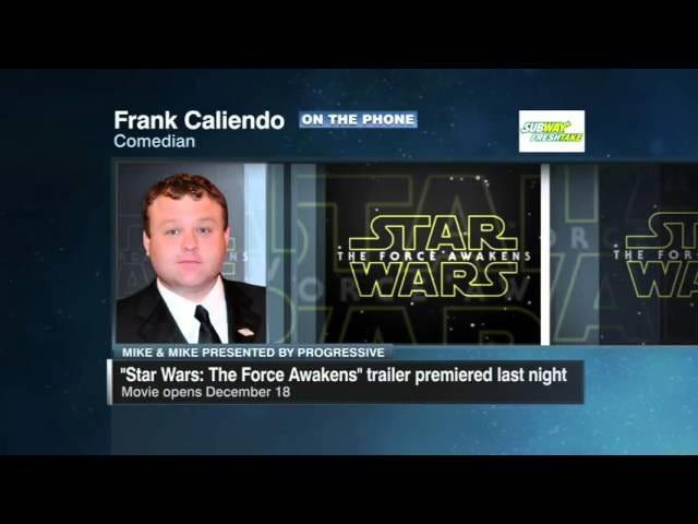 फ्रैंक कैलीएंडो ईएसपीएन व्यक्तित्व के रूप में <i>Star Wars</i> ट्रेलर को तोड़ता है