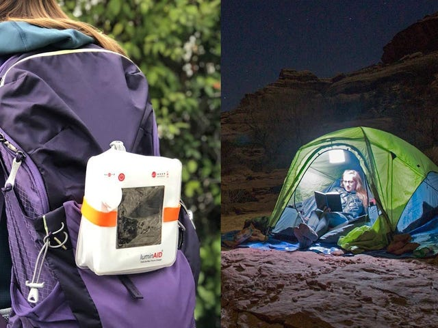 Light Up Your Campsite With the Solar-Powered LuminAID Max, Now Just $19