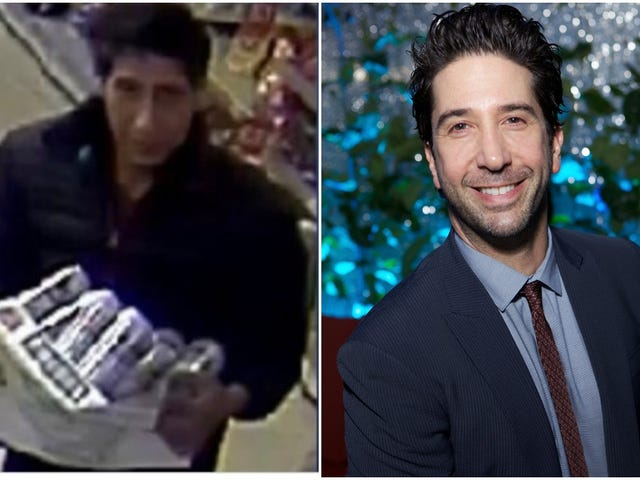 David Schwimmer did not steal any beer, unfortunately
