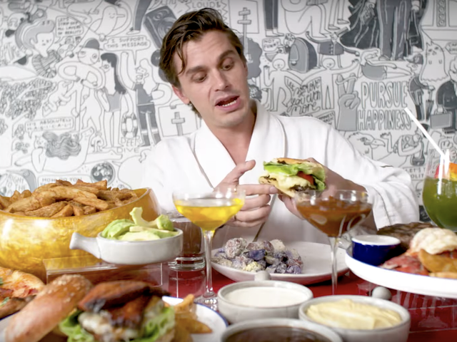 How Many Seconds of Antoni Porowski's SponCon Mukbang Can You Get Through?