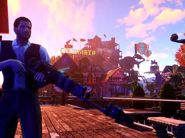 BioShock's Floating City of Columbia, Translated to Fallout 4