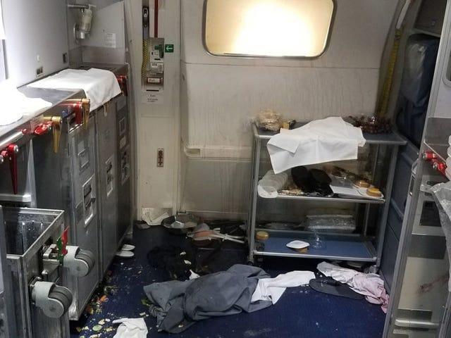Una azafata le rompe dos botellas de vino en la cabeza a un pasajero que trataba de abrir la puerta en pleno vuelo