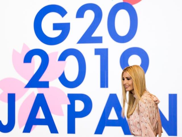 Ivanka Trump satte sig in i en G-20-konversation med världsledare och därmed föddes #UnwantedIvanka