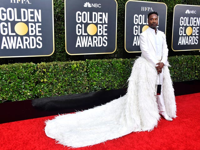 The Only Thing Whiter Than the 2020 Golden Globes Was Billy Porter's Outfit
