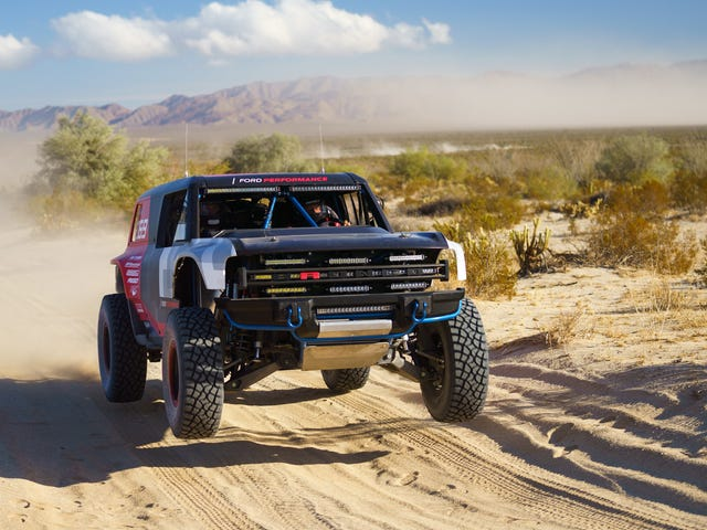The New Ford Bronco R Failed To Finish The Baja 1000