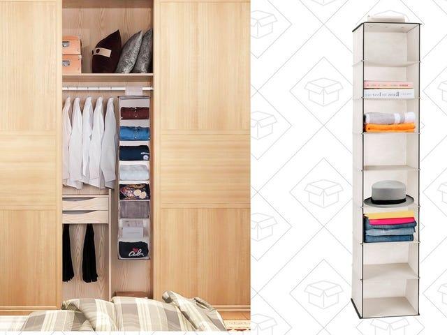 Tối đa hóa không gian của tủ của bạn với giá treo 11 USD này