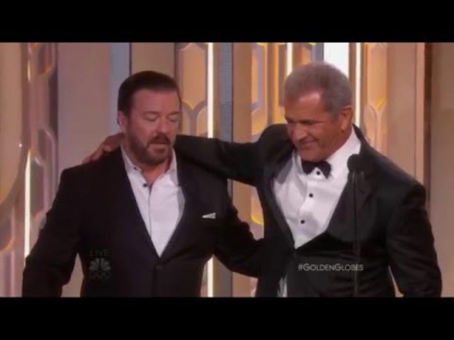 Drunk Ricky Gervais Rujukan Masa Mel Gibson Memanggil 'Tits Gula' Polis Perempuan