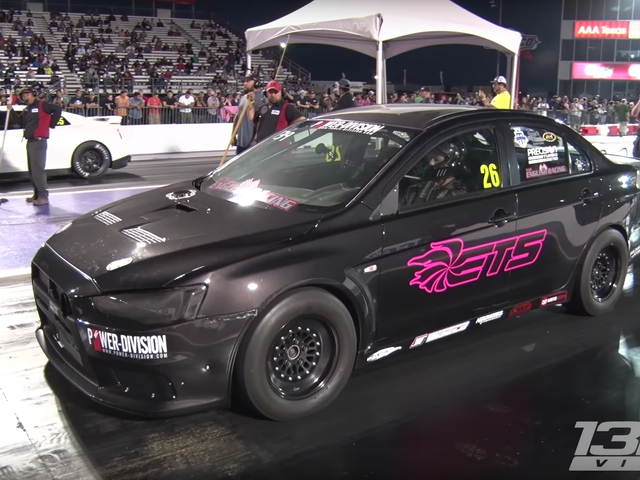 Here Is A Batshit-Crazy Eight-Second Mitsubishi Evo