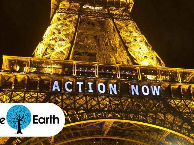 パリ気候協定が採択された
