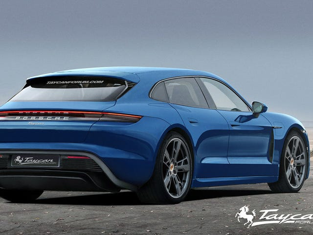 Here's What a Porsche Taycan Sport Turismo Could Look Like