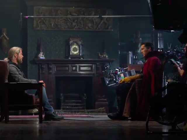 Watch Benedict Cumberbatch and Chris Hemsworth Improv the Doctor Strange End Credits Tag
