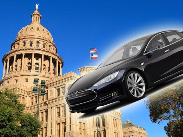 Dwa rachunki złożone w Teksasie w celu legalizacji sprzedaży bezpośredniej Tesli