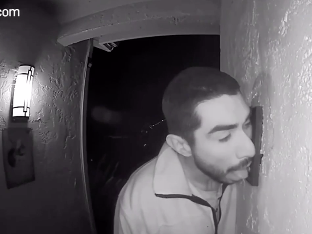 Man Licks Doorbell