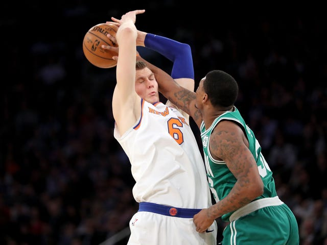 Here Are All The Times Enormous Person Kristaps Porzingis Got His Jumper Blocked