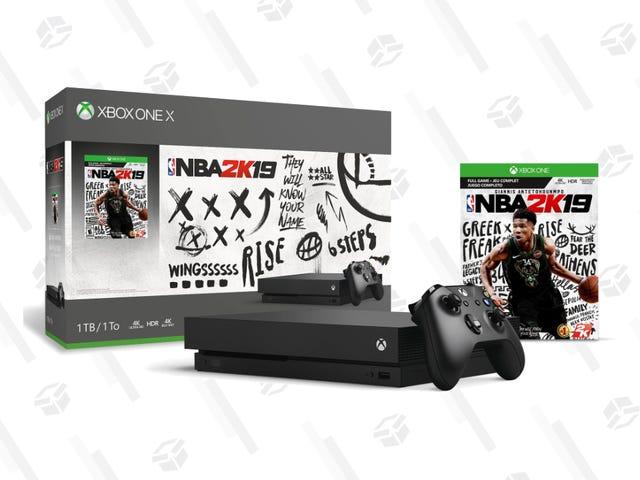 只需250美元即可在GameStop上获得NBA 2K19 Xbox One X套装,免费获得额外的控制器