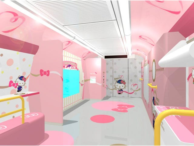 A Look Inside The Hello Kitty Bullet Train