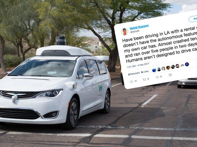 Por favor, disfruta de este tweet salvaje de un ingeniero automotriz autodirigido