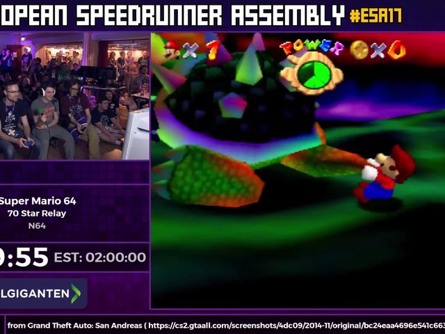 70 personas corrió un relé de <i>Super Mario 64</i> y fue increíble