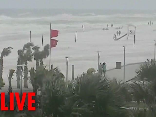 Slik ser du Live Video of Hurricane Michael Online
