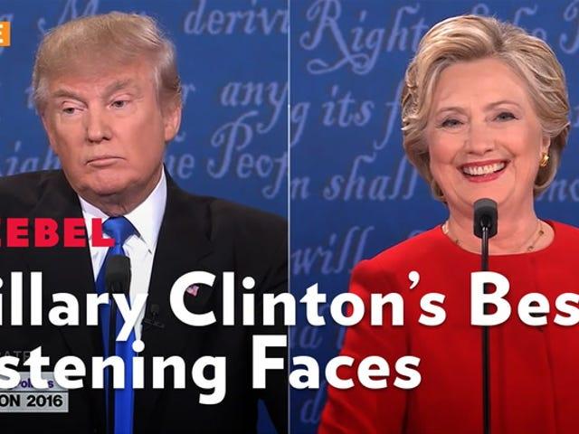 Hillary Clinton đã làm chủ khuôn mặt 'lắng nghe phụ nữ'