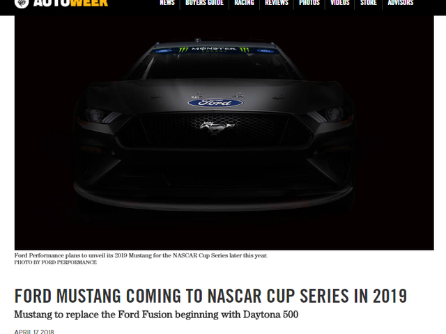 What Comes After Fusion in NASCAR? [UPDATE: Mustang]