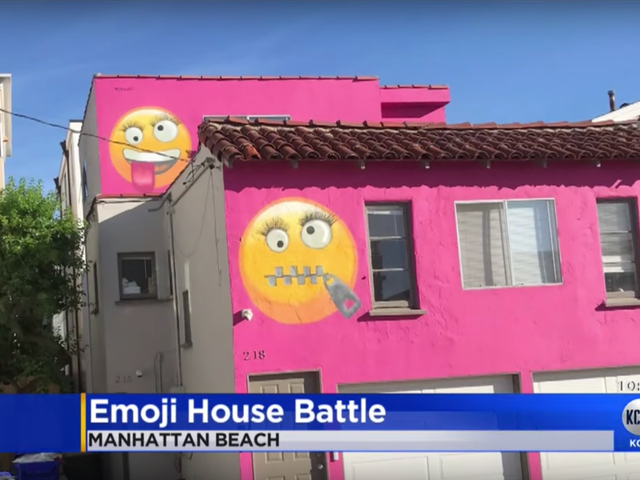 Woman Paints Giant Emojis on Her House—and Neighbors Say It's Revenge