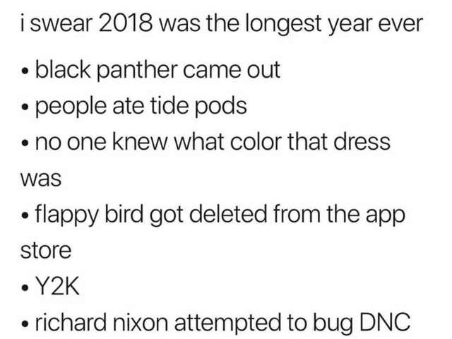 It was a long year