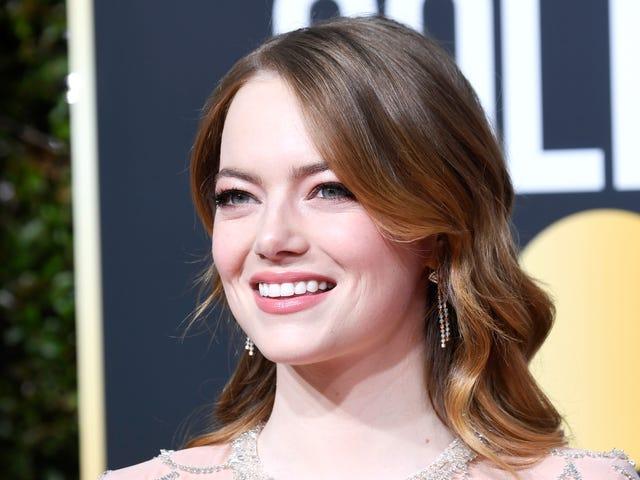 "Emma Stone Blurts Out ""Jag är ledsen!""  Över Aloha vid Golden Globes"