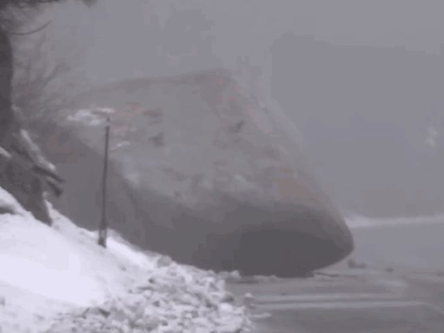 This Is How They Remove Huge Boulders From Roads