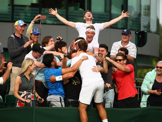 Marcus Willis är folkets Champ of Wimbledon