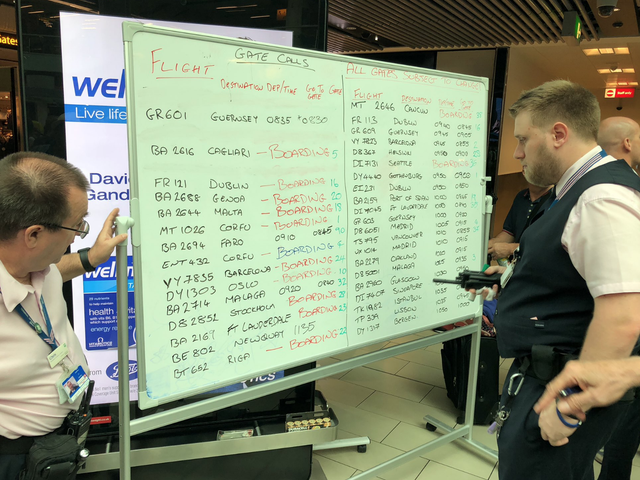 Major UK Airport Turns to Whiteboards and Markers After Flight Info Screens Crash