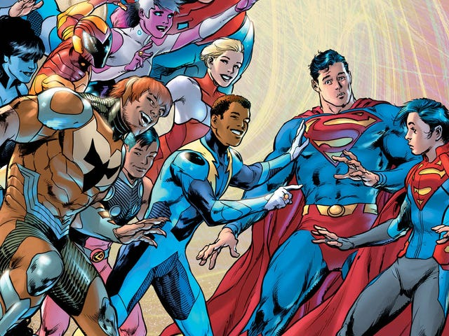 The Legion Of Superheroes arrives in this Superman #15 exclusive