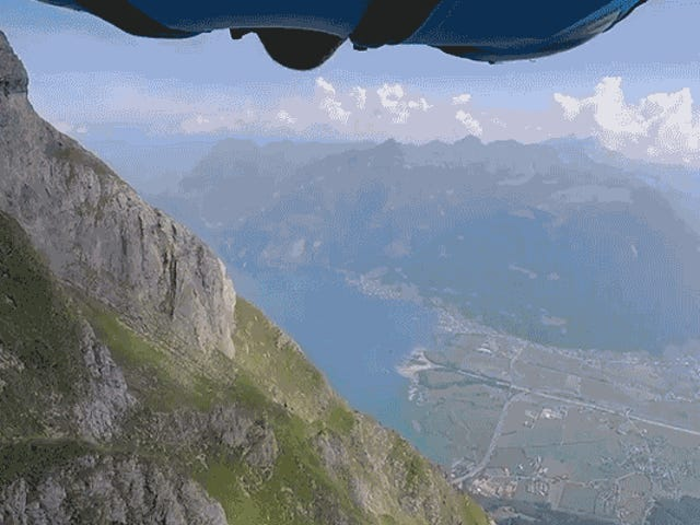 Watching Wingsuiters Base Jump Off This Steep Mountain Will Make You Terrified of Heights